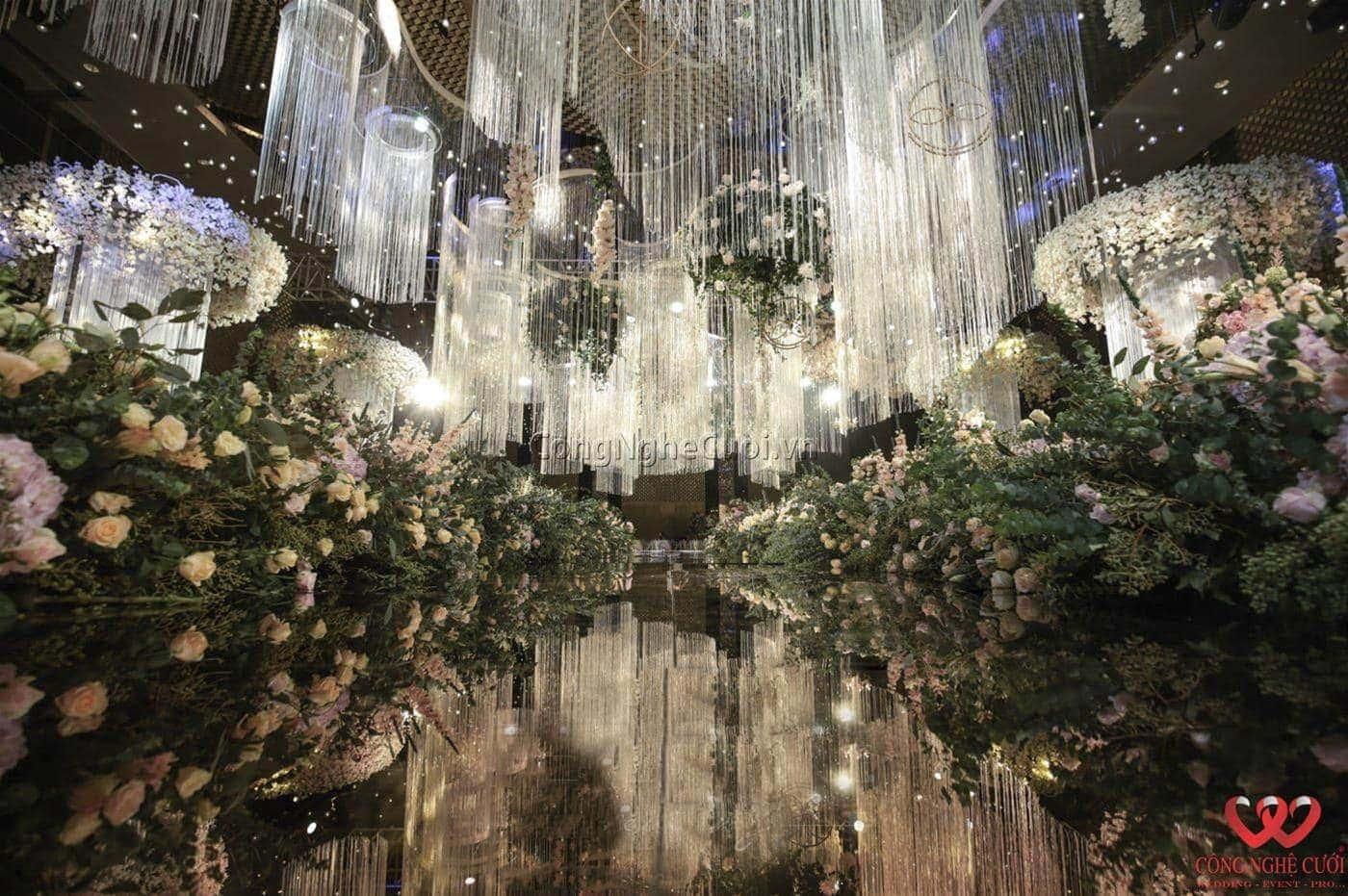 Đám cưới đẹp với tông màu hồng