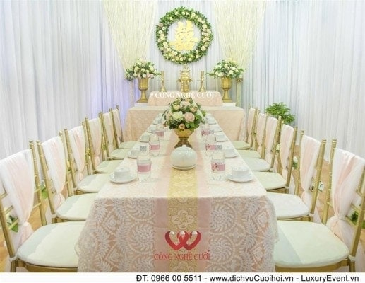 Trang trí gia tiên - Trang trí nhà đám cưới - Công Nghệ Cưới