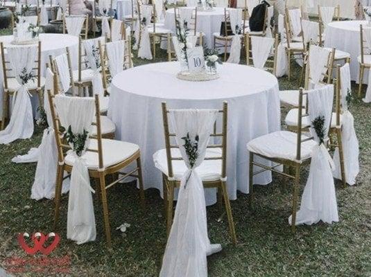 Cho thuê bàn ghế Tiffany tiệc cưới
