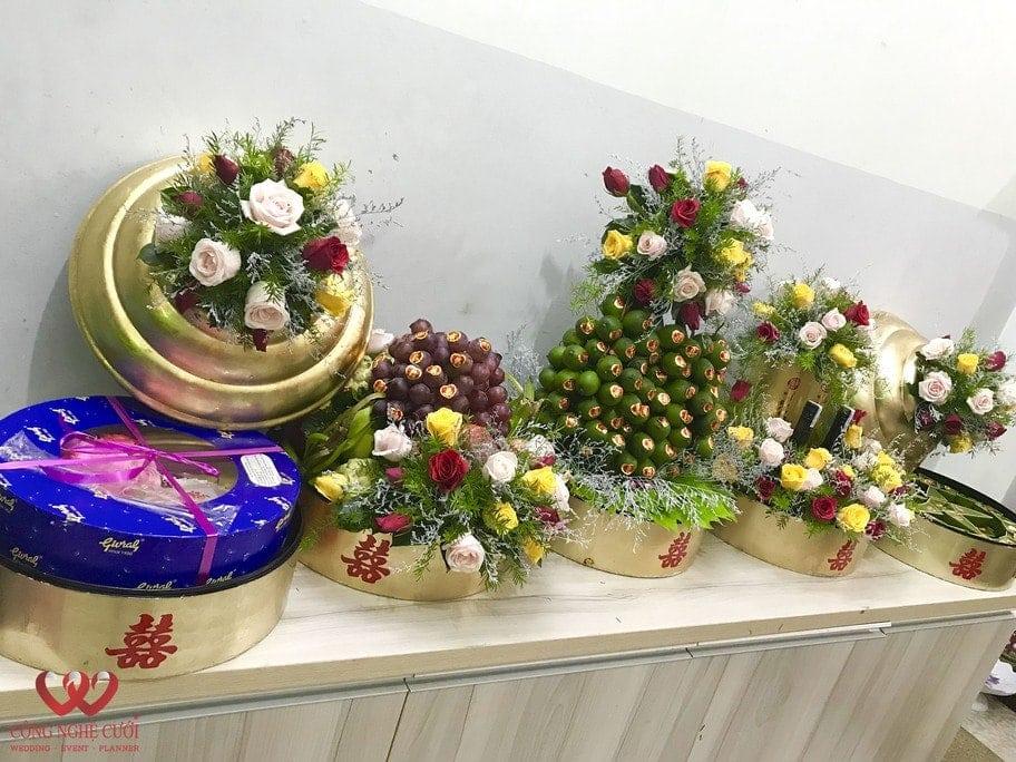 Mâm quả cưới hỏi trọn gói