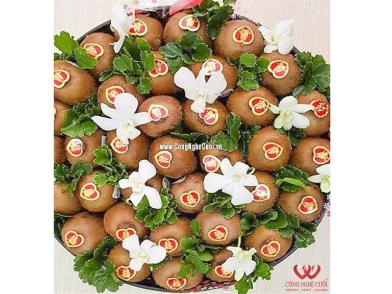 Mâm quả trái cây Kiwi cưới hỏi