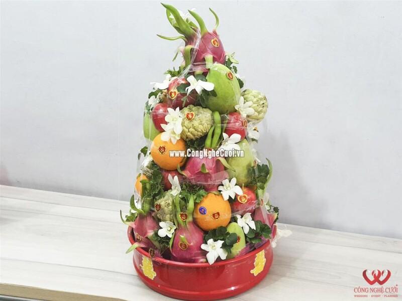 Mâm quả tháp trái cây cưới hỏi